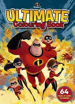 Disney Incredibles 2: Ultimate Colouring Book Paperback Book Free Shipping!