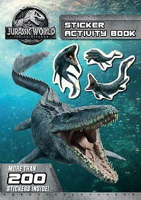 Jurassic World: Fallen Kingdom Sticker Activity Book Paperback Book Free Shippin