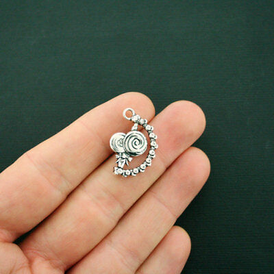 SC7202 4 Army Strong Charms Antique Silver Tone