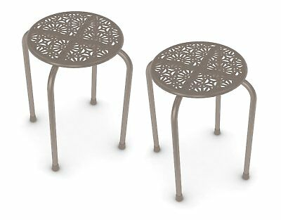 Outstanding Dar Living Daisy Metal Stool Stone 2 Pack 47 61 Picclick Andrewgaddart Wooden Chair Designs For Living Room Andrewgaddartcom