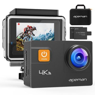 [NEWEST VERSION] APEMAN Underwater Action Camera 4K Wi-Fi A80 Action Cam 20MP