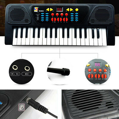 37 Keys Electronic Organ Piano Keyboard with Microphone Musical Kids XMAS Toys