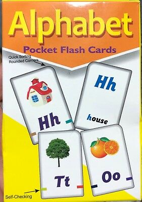 A-Z Alphabet Flash Cards Kids Learning Playing Game Card Children Activity UK