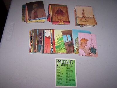 MOEBIUS COLLECTOR CARDS 1993 COMIC IMAGES -90 card set