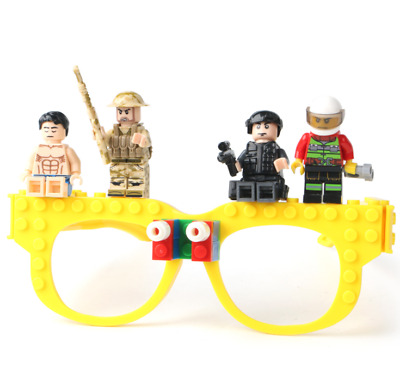1pcs Funny Glasses Building Blocks Bricks Fancy Dress Party Favor EDC Toys