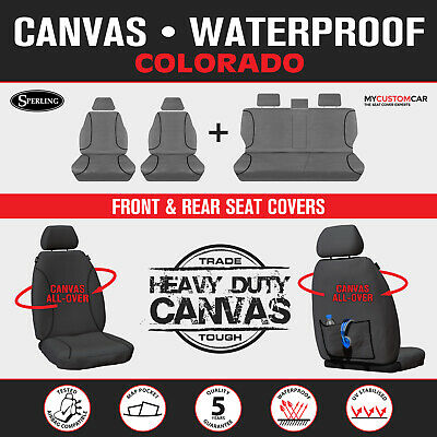 Holden Colorado Dual Cab 2015-On TRADIES Heavy Duty Canvas Car Seat Covers