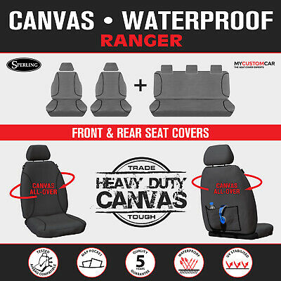 Ford Ranger PX Dual Cab 2012-JUL/2015 TRADIES Heavy Duty Canvas Car Seat Covers