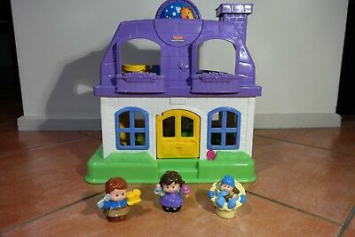 Fisher Price, Little People, Musical Dolls House. 35Hx35Wcm VGC