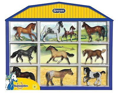 Stablemates Shadow Box Horse Set Toy W/ 10 Horses Portraying Breeds Collection