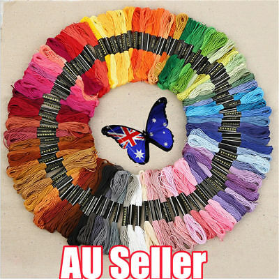 50 Color Egyptian Cross Stitch Cotton Sewing Skeins Embroidery Thread Floss ON