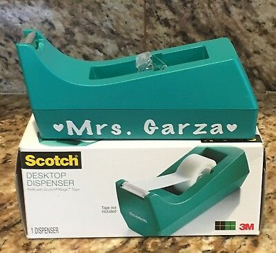 Scotch Desktop Tape Dispenser in Teal - Ready To Be Personalized