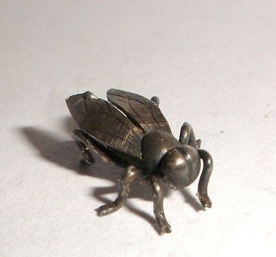 Nice Antique miniature Sterling Silver fly bee figure