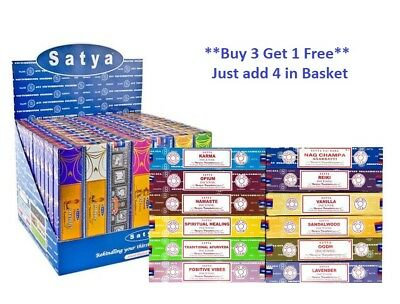 Genuine Satya Nag Champa Incense Sticks Joss Mixed Scents 15 gm x 1 Pack