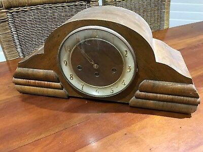 Vintage Mantle Clock Made In Germany With Chimes Working
