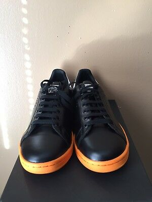 size 40 e83aa 5b196 Adidas X Raf Simons Stan Smith Core Black Bright Orange Footwear White  BB2647