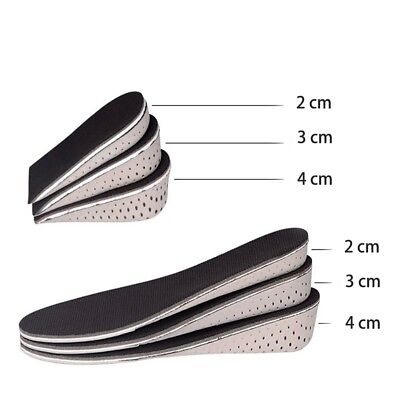 Shoe Insole Foam Cushion Pads Heel Insert Increase Taller Height Lift Insole L/