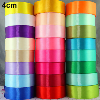 25yds Satin Ribbon Bow DIY Craft Sewing Supplies Pick Colors Wedding Party Decor