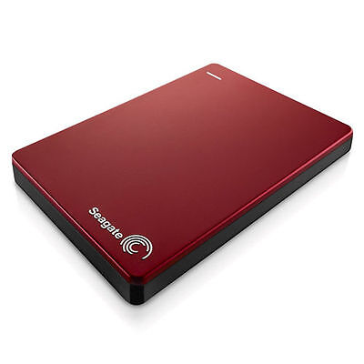 Red Seagate Backup Plus Slim 500GB SuperSpeed USB 3.0 HDD Portable Hard Drive