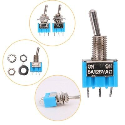 10x Mini 6A 125VAC SPDT MTS-102 3 Pin 2 Position On-on Toggle Switches Practic