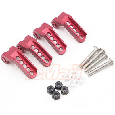 GPM Aluminum Front Knuckle Arms Set Red For Traxxas TRX-4 RC Crawler #TRX4021B-R