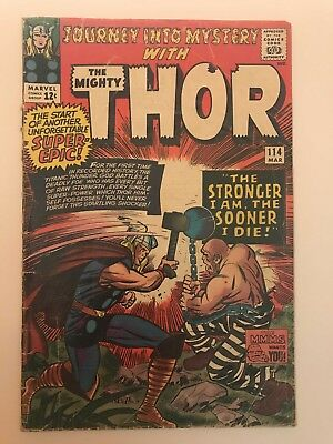 Journey Into Mystery #114! Thor! Marvel 1965! SEE PICS! KEY BOOK! WOW!