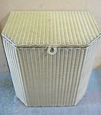 """Lloyd Loom Laundry Basket: """"A Lusty Product"""" in the Original Gold Finish"""