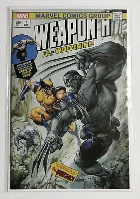 Weapon H #1 Clayton Crain Hulk 181 Homage Trade Dress Variant Wolverine NM