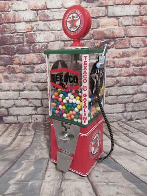 Texaco gas vintage gumball machine coin-op machine game room accessories bar