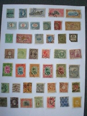 Colonial and world early used unchecked spacefiller stamps from old albums B