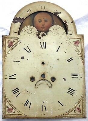 """Antique Long Case Grandfather Rolling Moon Dial Royle & Rawson Wigan 23"""" By 16"""""""
