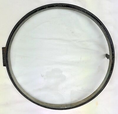Lovely Antique Fusse Round Dial Wall Clock Bezel And Glass