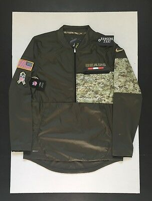 0066b8470d6 Nike NFL 2017 Chicago Bears Salute to Service STS Hybrid Jacket Mens Size L