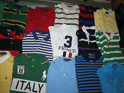 Lot Of 26 Mens Polo Ralph Lauren Knit Shirts Cotton Rugby Short Sleeve Adult Xl