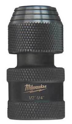 Milwaukee 48-03-4410 Shockwave 1/2-Inch Square by 1/4-Inch Hex Adapter