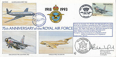 (13216) Bahamas FDC RAF 75(25) 1 April 1993