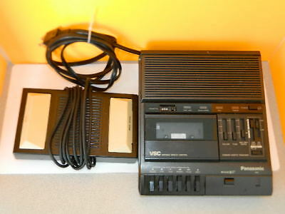 Panasonic Rr-830 Vsc Standard Cassette Transcriber With An Rp-2692 Foot Pedal