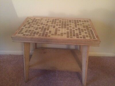 Vintage Mid Century Modern Mosaic Top End Table