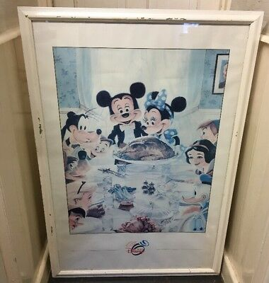 Vintage Rare Large The Art Of Disney Framed Wall Art / Poster