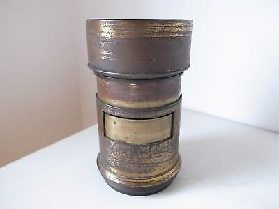 Grubb A3 Petzval Early Brass Plate Camera Lens C1860 SPARES / REPAIR