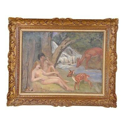 Original Signed Vintage Impressionist Oil/Canvas-Listed French Artist-Framed