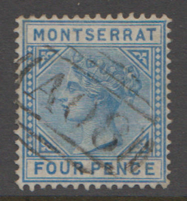 Montserrat. 1880 4 Pence From the second issue. Sc. #4 SG #5. Used