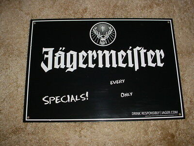 Jagermeister Sign Specials! Every (Day?) (Only$) Bar Man Cave