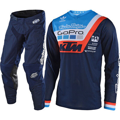New 2018 Troy Lee Designs Gp Air Prisma Ktm Motocross Gear Combo Navy All Sizes