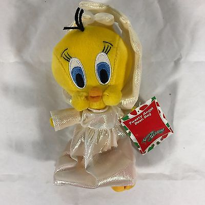 Tweety Bird Plush Stuffed Animal Angel Bean Bag Warner Bros Looney Tunes 8""