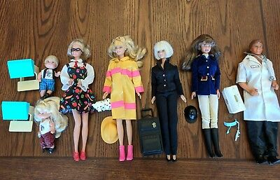 Vintage Barbie Ken Lot School Teacher Firefighter Air Attendant Jockey Dr