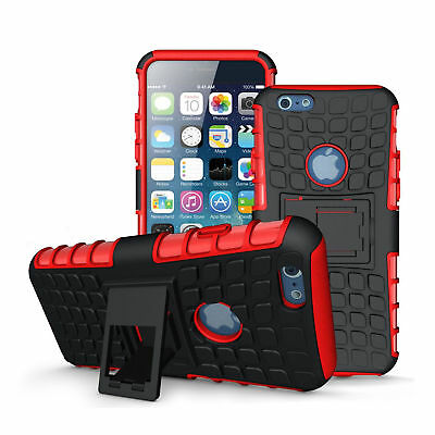 Case For Apple iPhone 6/6s Skin With Kickstand Red Free Screen Protector New