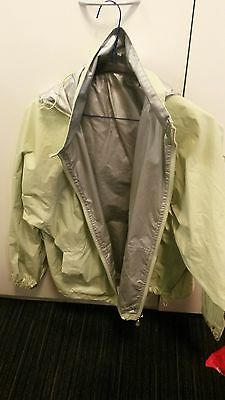 ADULT GIORDANO Windproof Reversible jacket Size Medium Cycling Silver/Lime