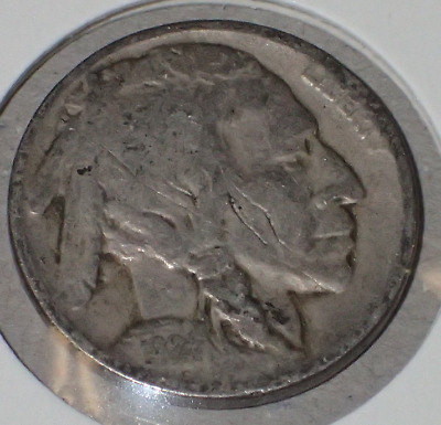 1924 Buffalo Indian  USA Nickel COIN #sn459