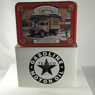 NEW ERTL 1930 Texaco Chevy Delivery Truck 1:43 Die-Cast In Collector Tin F537