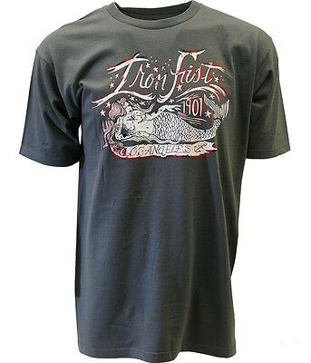 Iron Fist Catch Of The Day Men Gray T Shirt